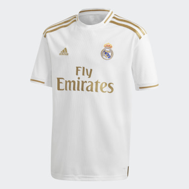 Boys Fotboll Vit Real Madrid Home Jersey