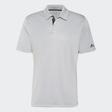 Herr Golf Grå Solid 3-Stripes Polo Shirt