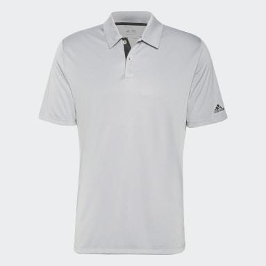 Men Golf Grey Solid 3-Stripes Polo Shirt