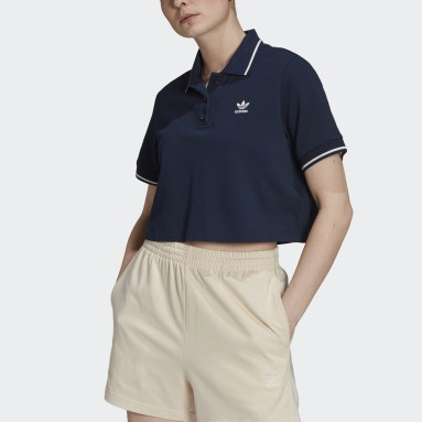 Women Originals Blue Tennis Luxe Polo Shirt