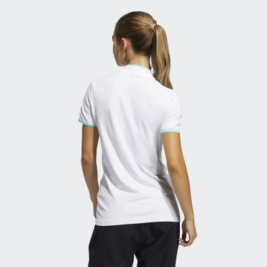 Dam Golf Vit Primeknit Polo Shirt