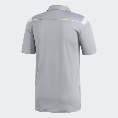 Men Football Grey Tiro 19 Clima Polo Shirt