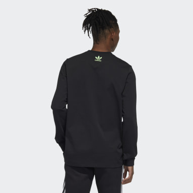 Men Originals Black Long Sleeve 2 Tee