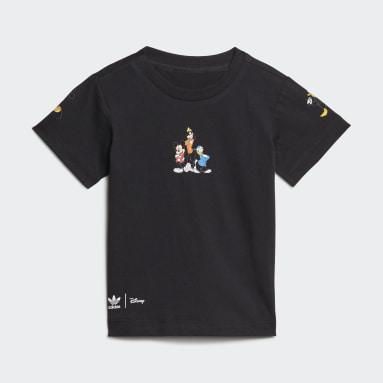 เด็กผู้ชาย Originals สีดำ ชุดเสื้อยืดและกางเกงขาสั้น Disney Mickey and Friends