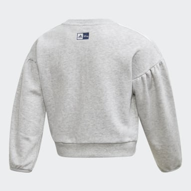Sweat-shirt Frozen. Gris Filles Fitness Et Training