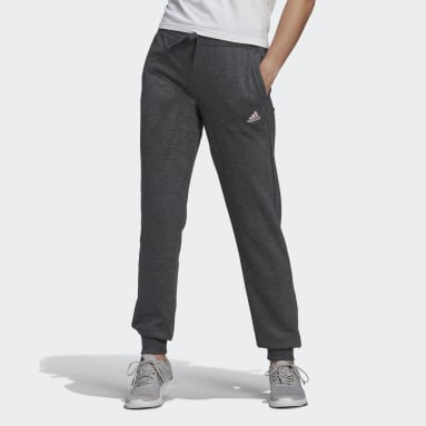 Women Sport Inspired Grey Essentials French Terry Logo Pants