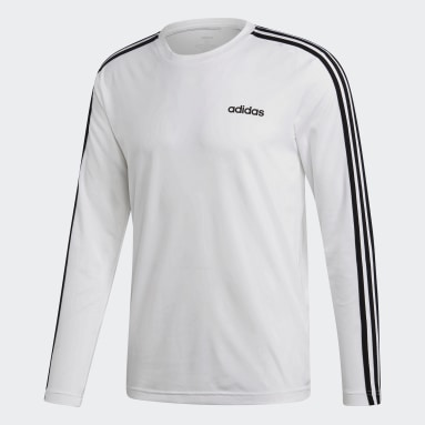 Men's Essentials White Designed 2 Move Climalite 3-Stripes Tee