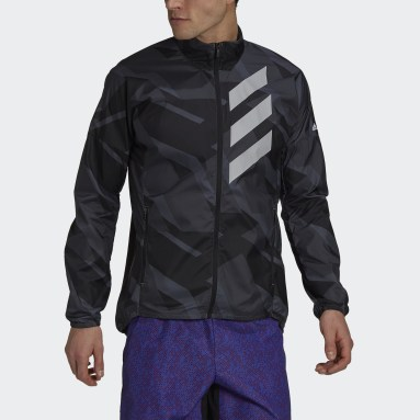 Men TERREX Grey Terrex Parley Agravic WIND.RDY Windbreaker