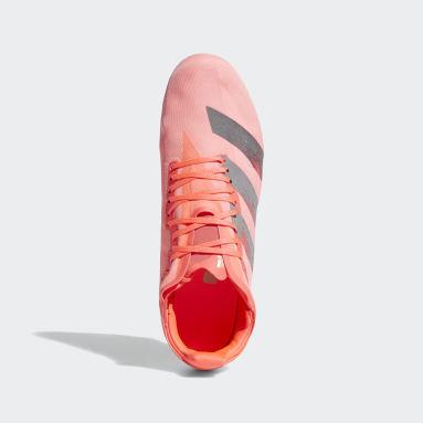 Running Pink Adizero Avanti Spikes