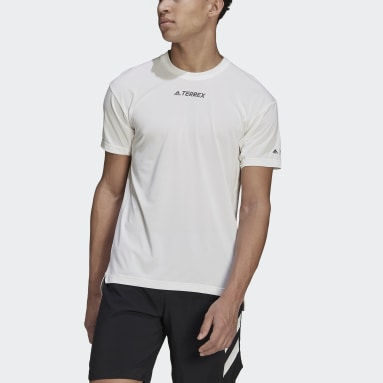 Men's TERREX White Terrex Parley Agravic Trail Running All-Around Tee
