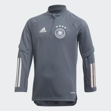 Kinderen Voetbal Zwart Duitsland Trainingsshirt