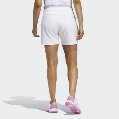Women's Golf White Solid 5-Inch Shorts