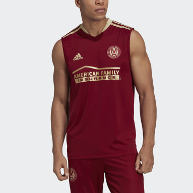 Men's Soccer Red Atlanta United FC Sleeveless Jersey