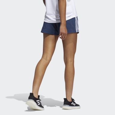 Women's Training Blue Pacer 3-Stripes Woven Shorts