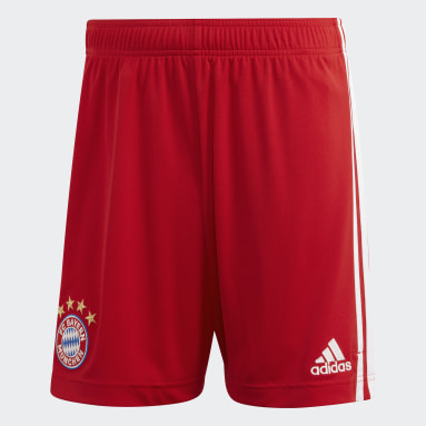 Short Home FC Bayern München Rosso Uomo Calcio