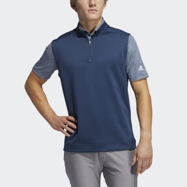 Herr Golf Blå Club Quarter-Zip Vest