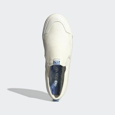 Heren Originals Wit Nizza Slip-On Schoenen