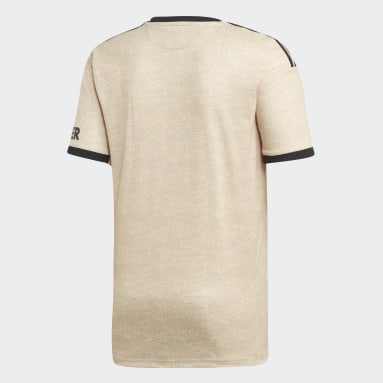 Men Football Beige Manchester United Away Jersey