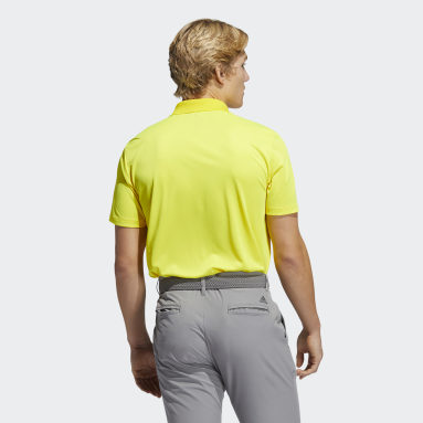 Men Golf Yellow Performance Primegreen Polo Shirt
