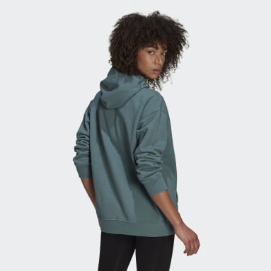 Women Originals Green adidas Adicolor Trefoil Hoodie