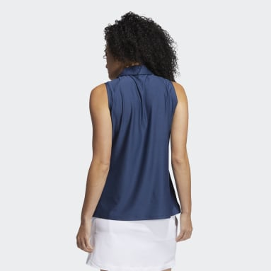 Women Golf Blue Go-To Primegreen Sleeveless Polo Shirt