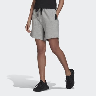 Pantalón corto adidas Sportswear Studio Lounge Fleece Gris Mujer Sportswear