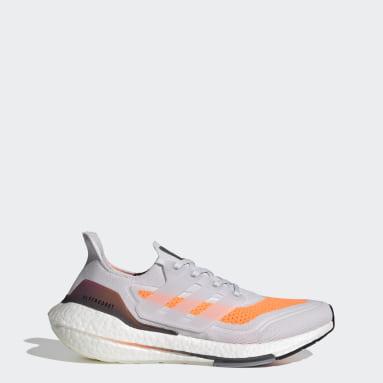 Heren Hardlopen grijs Ultraboost 21 Schoenen