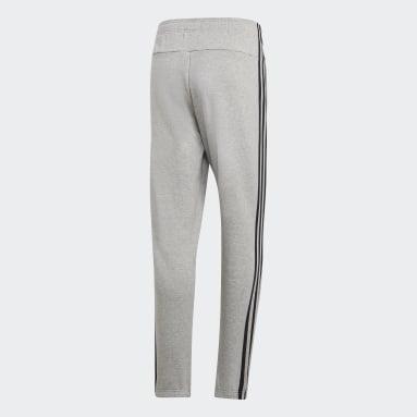 Men Sport Inspired Grey Essentials 3-Stripes Pants
