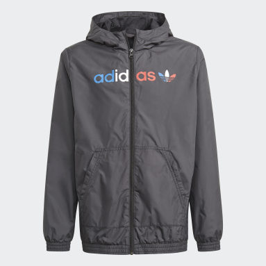 Kinder Originals Adicolor Windbreaker Schwarz