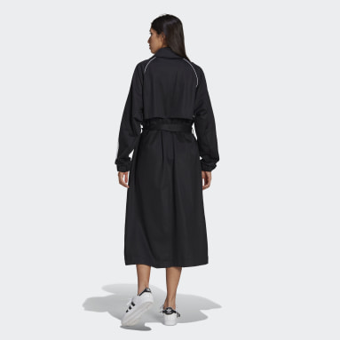 Women Originals Black Primeblue Trench Coat
