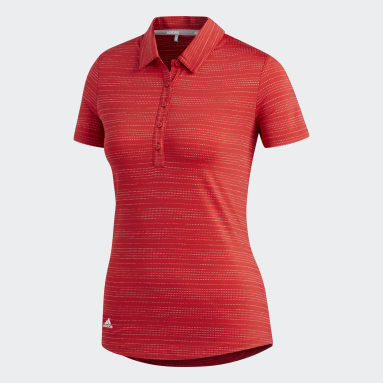 Women Golf Red Microdot Polo Shirt