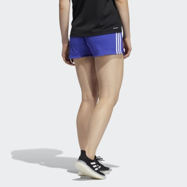 Shorts Malha Pacer 3-Stripes Roxo Mulher Training
