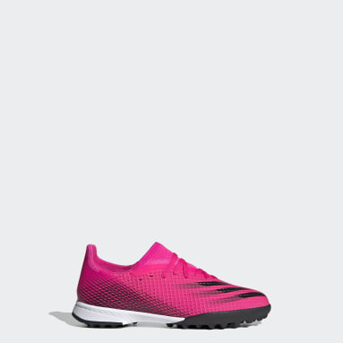 Boys Football Pink X Ghosted.3 Turf Boots