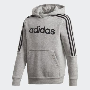серый Худи 3-Stripes