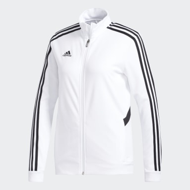 Women Football White Tiro Track Track Top