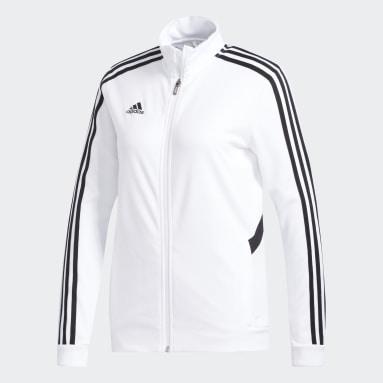 Veste de survêtement Tiro Blanc Femmes Football
