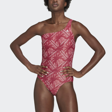 Women Swimming Pink SH3.RO Asymmetrical Festivibes Swimsuit