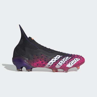 Men Soccer Black Predator Freak+ Firm Ground Cleats
