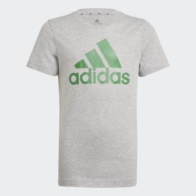 T-shirt Essentials Grigio Ragazzo Sportswear