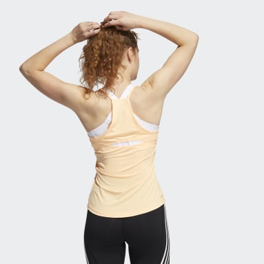 Women Training Orange Performance Tank Top