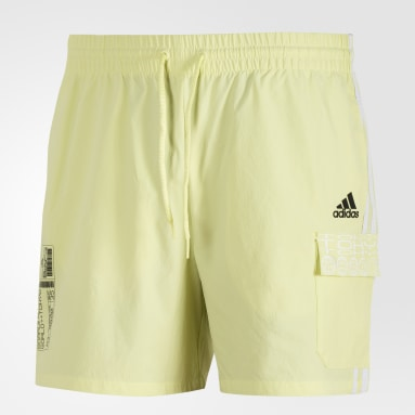 Men Sportswear Yellow ID Cargo Shorts