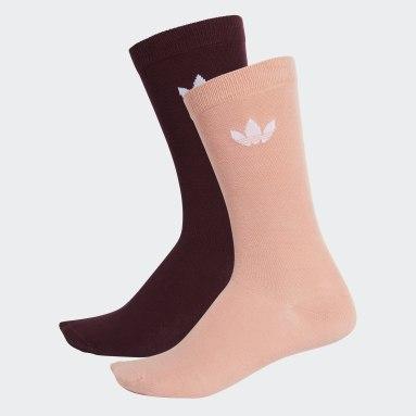 Meais Trefoil Crew Socks 2 Pares (UNISSEX) Borgonha Originals