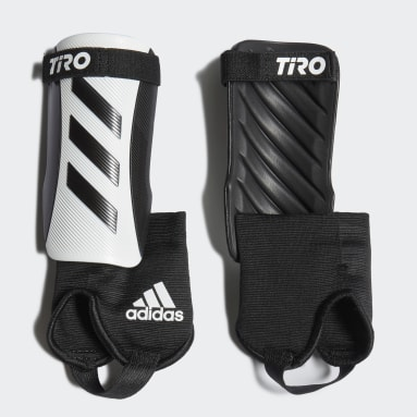 Youth Soccer White Tiro Match Shin Guards