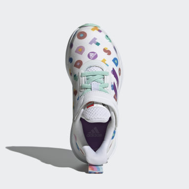 Children Running White adidas FortaRun x LEGO® DOTS™ Shoes