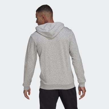 Men Sport Inspired Grey Essentials Big Logo Hoodie
