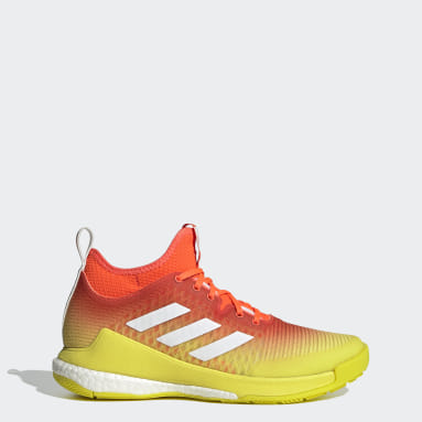 Women's Training Orange CrazyFlight Mid Volleyball Shoes