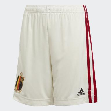 Děti Fotbal bílá Venkovní šortky Belgium