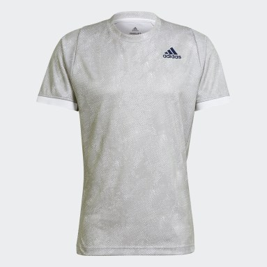 Men's Tennis Grey Tennis Freelift Printed Primeblue Tee