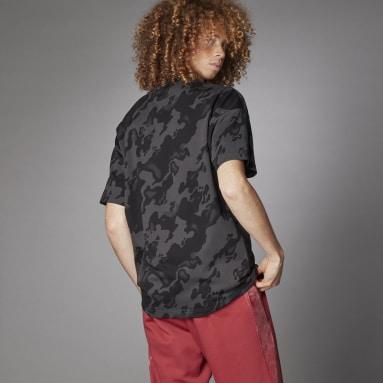 T-shirt Allover Print Gris Hommes Sportswear