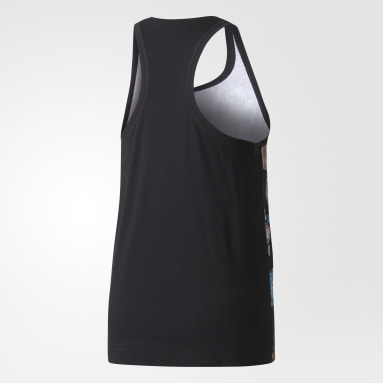 Playera sin mangas adidas STELLASPORT Jewels Tank Negro Mujer Training